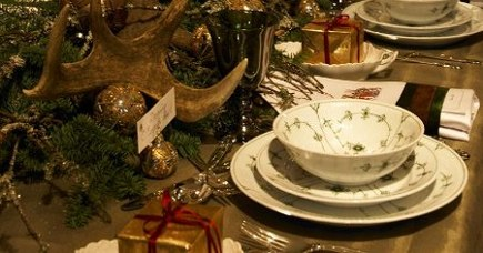 Royal Copenhagen Christmas Table from Gavno Manor, 2008