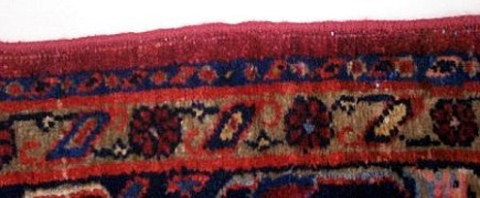 rug buyer's checklist - a re-edged rug in excellent condition - Atticmag
