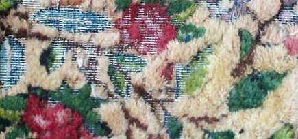 rug buyer's checklist - moth damaged oriental carpet - Atticmag