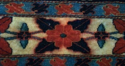 rug buyer's checklist - bleeding colors in an oriental carpet - Atticmag