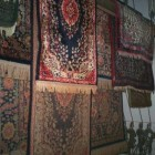 rug cleaning - oriental rugs hanging to dry after cleaning - Atticmag