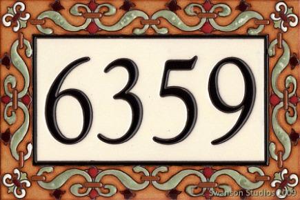 house plaques - custom tile address plaque via Atticmag