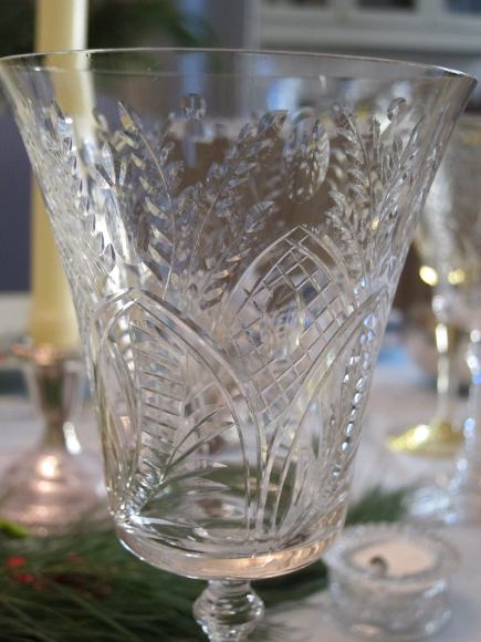 vintage limoges - American cut crystal early 20th century wine glass - Atticmag