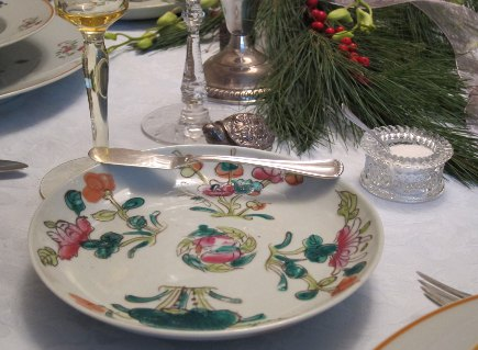 vintage limoges - Chinese famille vert export porcelain plates purchased from the James Beard estate sale - Atticmag