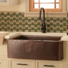 metal farm sink - hammered copper farm sink by native trails - native trails via atticmag