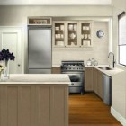 new apartment kitchen - virtual scale rendering of the new apartment kitchen plan - Atticmag
