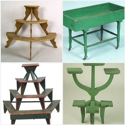 plant stand - vintage plant stands in auction catalogues - Atticmag