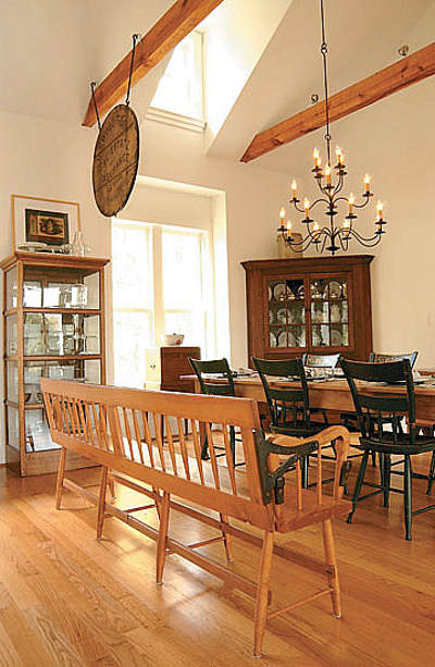 farmhouse modern - dining area in modern Virginia farmhouse - atticmag