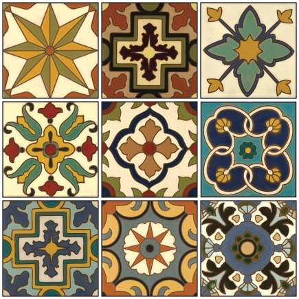 hand painted tiles Malibu quick ship collection from Catalina Classics via Atticmag