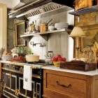 stone mansion kitchen - La Cornue range in the kitchen of the Canadian stone mansion, Maus Park - Country Living via Atticmag