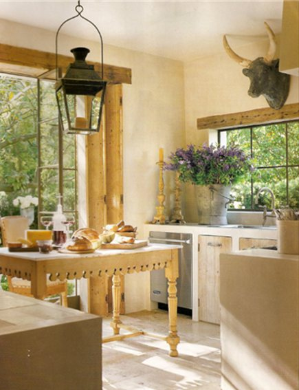 rustic kitchens - Pam Pierce's Texas kitchen with whitewashed walls - Cote de Texas via Atticmag
