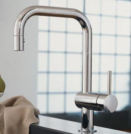 kitchen faucets - Grohe Minta kitchen faucet - Grohe via Atticmag