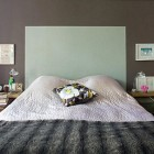painted on headboards - headboard created by painting shape on a wall - Living etc. via Atticmag