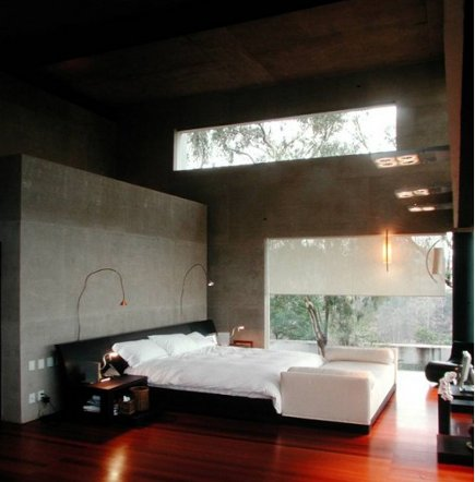 romantic bedroom - exotic contemporary bedroom by Serrano Monjaraz via Atticmag