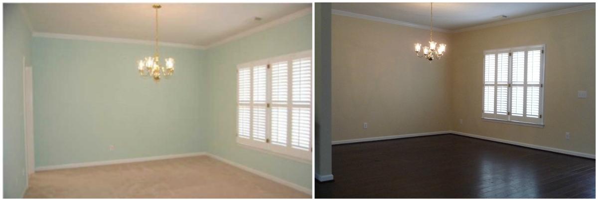 dining room redo - dining room before - Atticmag