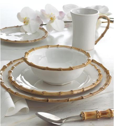 vitrified ceramic bamboo tableware by Jiliska via Atticmag