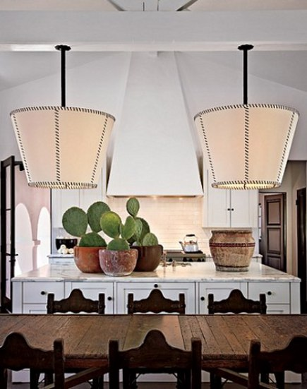 celebrity kitchens - Diane Keaton's Spanish accent kitchen - AD via Atticmag
