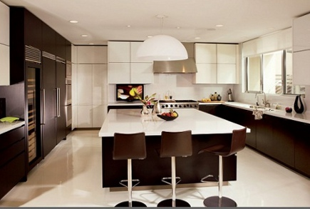 Gcelebrity kitchens - Giada De Laurentiis' contemporary kitchen - AD via Atticmag