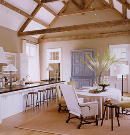 celebrity kitchens - Ina Garten's Long Island kitchen with adjacent dining area - HB via Atticmag