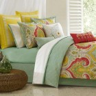 colorful home decor - summer Jaipur bedding with Indian paisley design from Echo Design via Atticmag