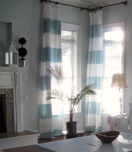 European linens - st barts linen curtain panels by Rough Linen via Atticmag
