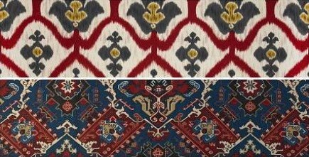 hand-printed French fabrics from Tissus Tartares via Atticmag