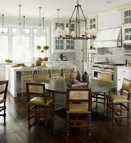 kitchen style - white Victorian-style kitchen by Steven Gambrel - via Atticmag