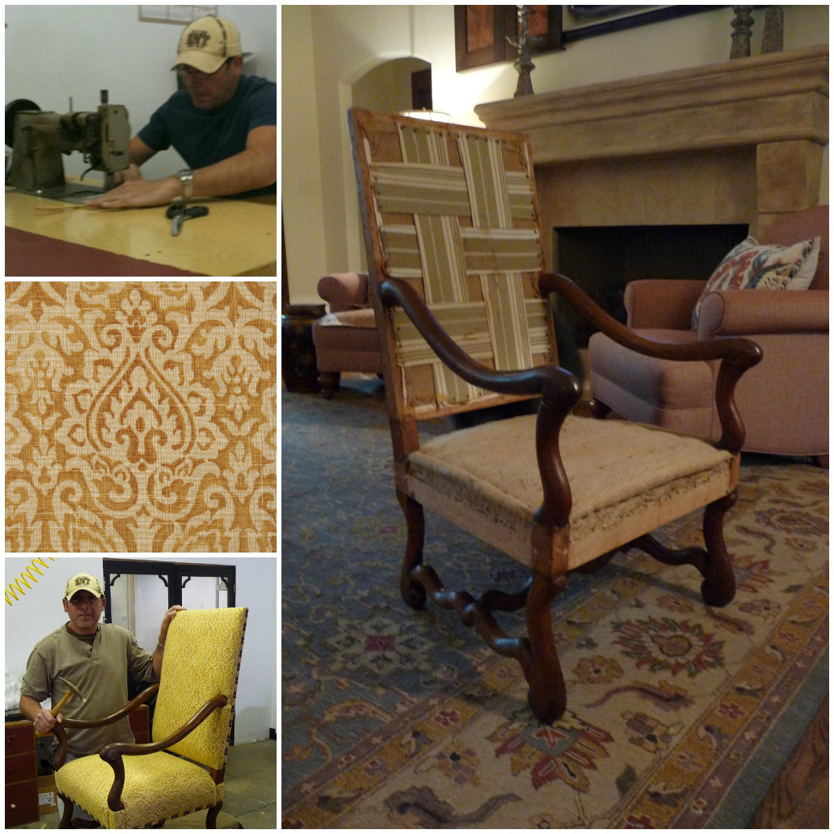 antique French os de mouton chairs before recovering - Atticmag