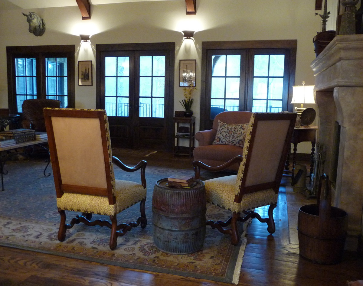 antique French os de mouton chairs covered in linen with suede back - Atticmag