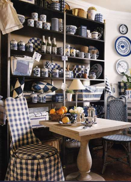 slipcover styles - tablecloth check slip cover for a woven bistro chair - tartanscot blog via Atticmag