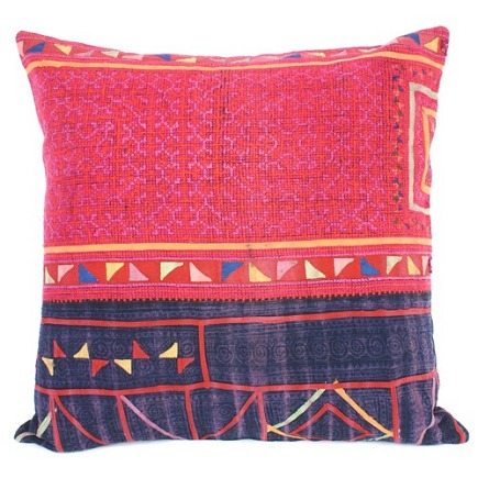 handmade pillows - from vintage clothing from The Loaded Trunk via Atticmag