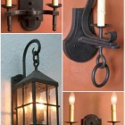 hand forged wrought iron light fixtures by Ironcad Ltd via Atticmag
