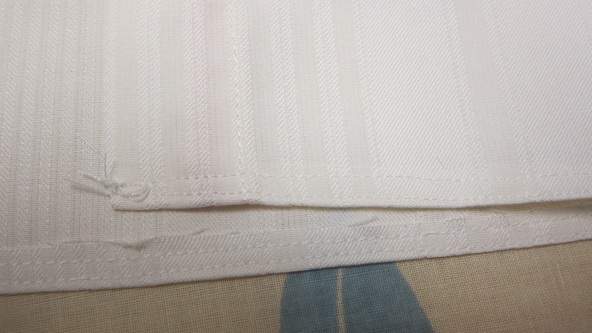 french door curtain - double row of stitching for the top rod pocket - Atticmag