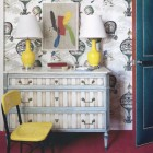 stripes on furniture - Neoclassical chest with striped drawers and marble top - House Beautiful via Atticmag