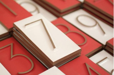 Heath Ceramic house numbers - Heath Ceramics via Atticmag