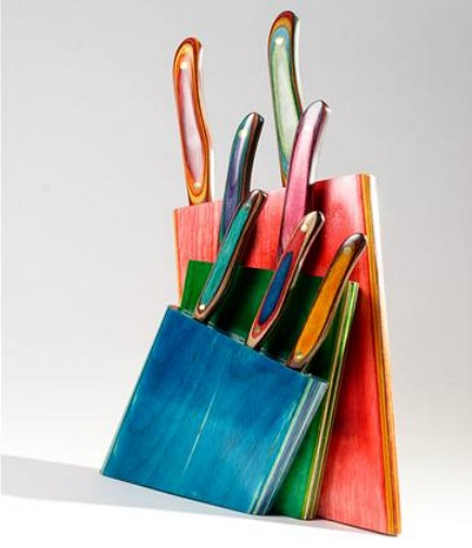 kitchen accessories - handmade Fushionwood kitchen knives from New West Knifeworks via Atticmag