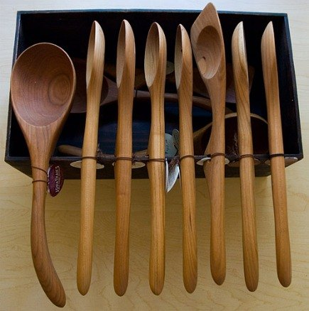 Kitchen Accessories   Handmade Cherry Wood Cooking Utensils From Orchard  Artworks Via Atticmag