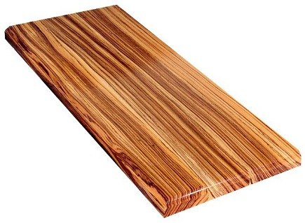 zebrawood kitchens - countertops material - Devons Woodworking via Atticmag