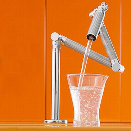 kitchen faucets - Kohler Karbon articulating faucet - Kohler via Atticmag