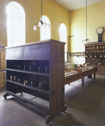 English kitchens at Petworth House, West Sussex - WOI via Atticmag