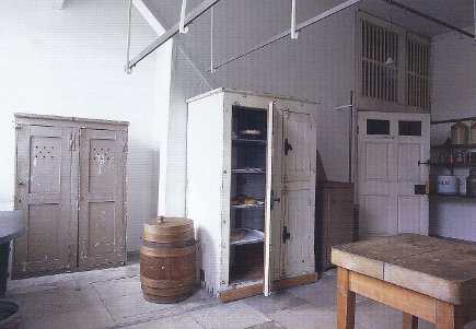 English kitchens - storage room and pantry at Petworth House kitchen - WOI via Atticmag