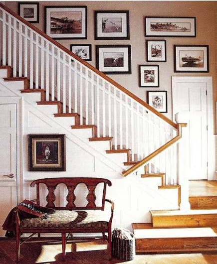 staircase with painted stringer and balusters - Homemag via Atticmag
