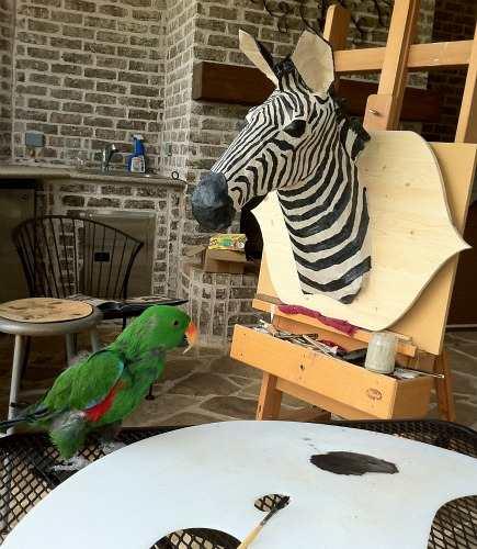 safari theme nursery paper mache zebra trophy animal - Atticmag