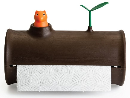 Qualy Log N Roll Squirrel And Paper Towel Holder