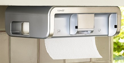 paper towel holders - clean cut hands free paper towel dispenser via Atticmag