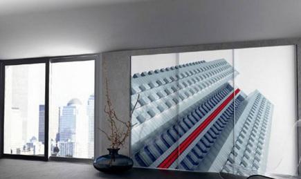 urban image on Spazzi's Elba Neo sliding closet doors via Atticmag