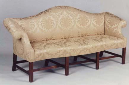 shaped headboards - Queen Anne sofa by Jeffrey Greene via Atticmag