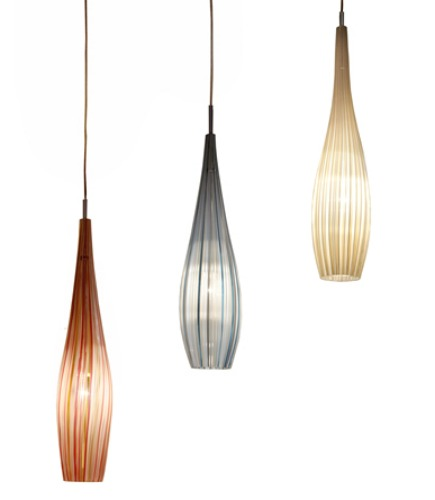 blown glass pendant lighting from Studio Bel Vetro via Atticmag