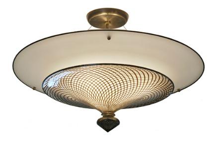 blown glass semi-flush mounted light fixture from Studio Bel Vetro via Atticmag