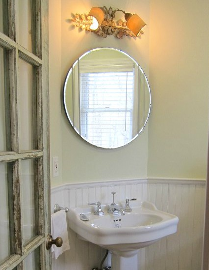 A New Powder Room Mirror Would Alter The Look Of My Cottage Y Guest Bath